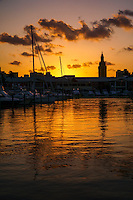 Freedom Tower & Bayside Mall (Sunset 2)