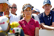 Georgia Hall waits patiently during the Final day of the Ricoh Women's British Open golf tournament at Royal Lytham and St Annes Golf Club, Lytham Saint Annes, United Kingdom on 5 August 2018. Picture by Simon Davies.