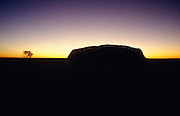 Ayers Rock (Uluru) at sunrise.
