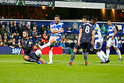 Rangers Tomer Hemed shoots during the EFL Sky Bet Championship match between Queens Park Rangers and Sheffield Wednesday at the Loftus Road Stadium, London, England on 23 October 2018.