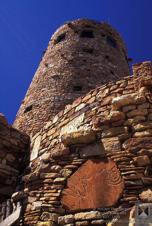 The Watchtower allows visitors a great look at Grand Canyon National Park, Arizona ..Subject photograph(s) are copyright Edward McCain. All rights are reserved except those specifically granted by Edward McCain in writing prior to publication...McCain Photography.211 S 4th Avenue.Tucson, AZ 85701-2103.(520) 623-1998.mobile: (520) 990-0999.fax: (520) 623-1190.http://www.mccainphoto.com.edward@mccainphoto.com.