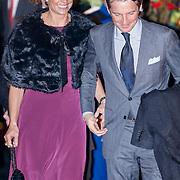 NLD/Utrecht/20130201 - Vertrek 75ste verjaardagfeest  Koninging Beatrix, prins Maurits en prinses Marilene van den Broek