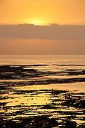 Sunrise and low tide at Old Quarters. San Felipe, Panama City, Panama, Central America.