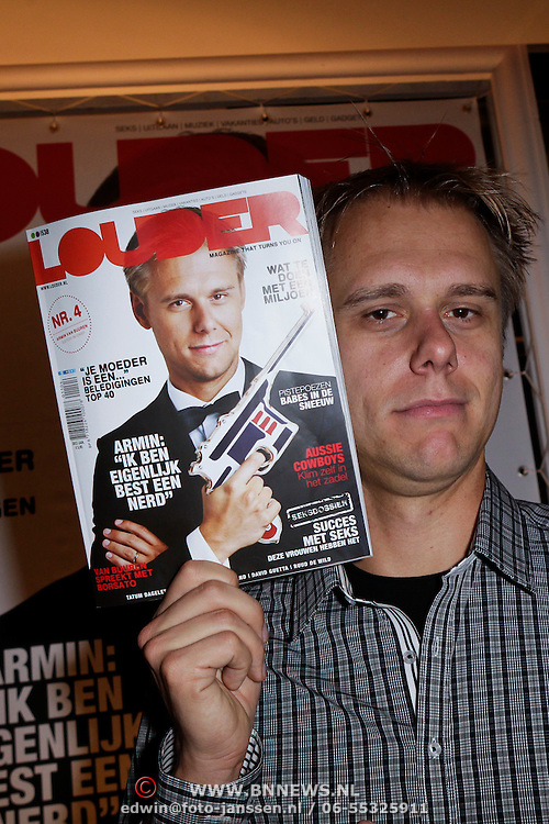 NLD/Amsterdam/201112119 - Presentatie Louder magazine door Armin van Buuren,