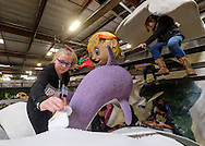 Float decorations for the 128th annual Tournament of Roses parade are underway in Pasadena, California on Dec. 30, 2016. Better known as the Rose Parade, the festival of flower-covered floats will take place on New Year's Day, Jan. 2, 2017. (Photo by Ringo Chiu/PHOTOFORMULA.com)<br /> <br /> Usage Notes: This content is intended for editorial use only. For other uses, additional clearances may be required.