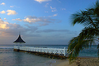 View of Gazebo and Pier on the Beach at Half Moon Resort, Rose Hall, Jamaica