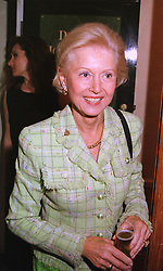 JUDITH, COUNTESS OF BATHURST at a party in London on 17th May 1999.MSB 16