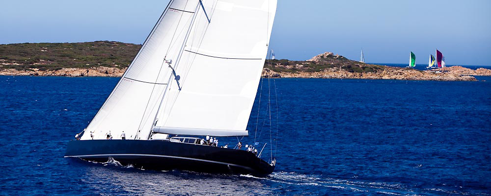 Saudade sailing in the Loro Piana Superyacht Regatta, day 3.