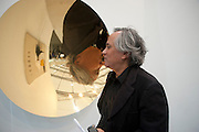 ANISH KAPOOR IN FRONT OF HIS WORK AT THE LISSON, Opening of Frieze 2009. Regent's Park. London. 14 October 2009 *** Local Caption *** -DO NOT ARCHIVE-© Copyright Photograph by Dafydd Jones. 248 Clapham Rd. London SW9 0PZ. Tel 0207 820 0771. www.dafjones.com.<br /> ANISH KAPOOR IN FRONT OF HIS WORK AT THE LISSON, Opening of Frieze 2009. Regent's Park. London. 14 October 2009