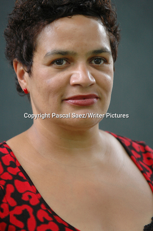 British writer and poet Jackie Kay at the Edinburgh International Book Festival 2007. <br /> <br /> Copyright Pascal Saez/Writer Pictures<br /> <br /> contact +44 (0)20 8241 0039<br /> sales@writerpictures.com<br /> www.writerpictures.com