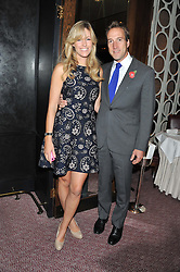 BEN & MARINA FOGLE at a dinner hosted by Marcus Wareing and Johnnie Walker Blue Label in The Private Dining Room, Marcus Wareing at The Berkeley, Wilton Place, London on 7th November 2012.