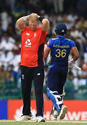 October 23, 2018 - Colombo, Sri Lanka - England cricketer Ben Stokes reacts  during the 5th One Day International cricket match between Sri Lanka and England at the R Premadasa International Cricket Stadium  Sri Lanka. Tuesday 23 October 2018  (Credit Image: © Tharaka Basnayaka/NurPhoto via ZUMA Press)