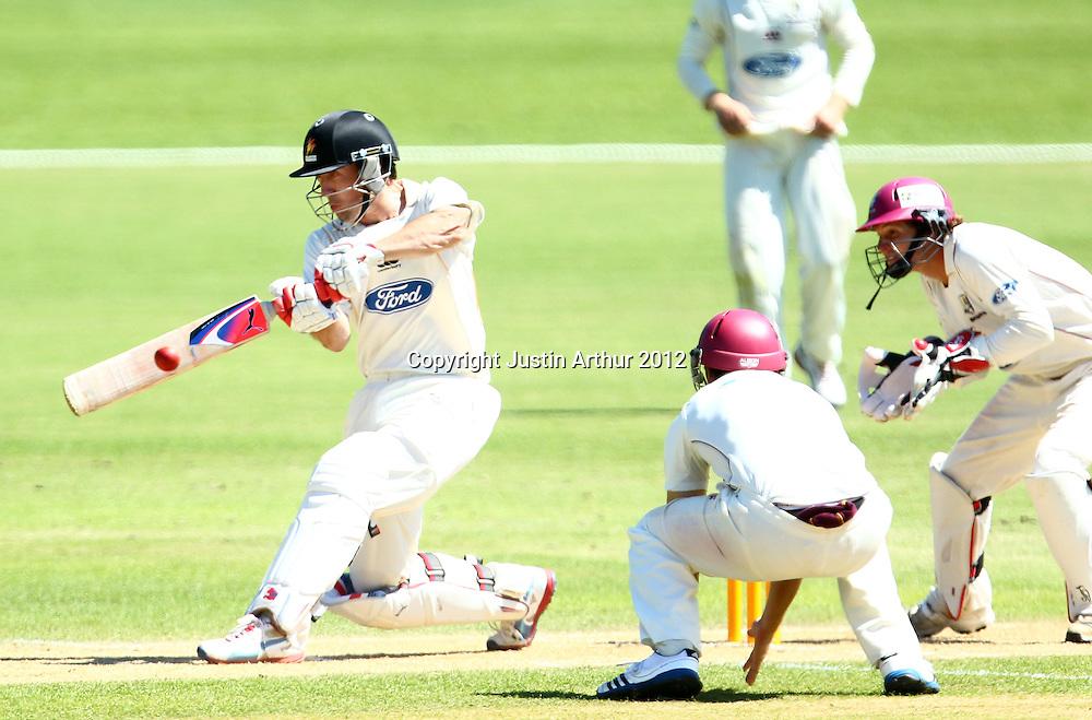 Luke Ronchi batting on day four. Plunket Shield Cricket - Wellington v Northen Districts ,Karori Park, Wellington, New Zealand on Thursday 20 December 2012. Photo: Justin Arthur / photosport.co.nz