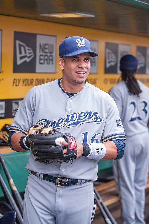 PITTSBURGH, PA - JUNE 08: Aramis Ramirez #16 of the Milwaukee Brewers looks on during the game against the Pittsburgh Pirates at PNC Park on June 8, 2014 in Pittsburgh, Pennsylvania. (Photo by Rob Tringali) *** Local Caption *** Aramis Ramirez
