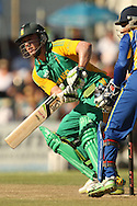 AB de Villiers and Kumar Sangakkara during the first Sunfoil ODI between the Proteas and Sri Lanka played at Boland Stadium in Paarl, South Africa on 11 January 2012. Photo by Jacques Rossouw/SPORTZPICS