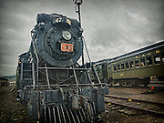 Retired steam locomotive at Steamtown, USA, National Park.