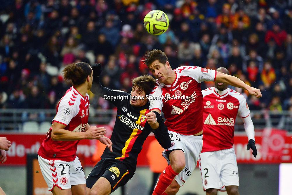 Pablo CHAVARRIA / Anthony WEBER - 25.01.2015 - Reims / Lens  - 22eme journee de Ligue1<br />Photo : Dave Winter / Icon Sport