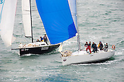 Blackout  and La Rochelle (NZL8837). The start of the Coastal Classic, Auckland to Russel race. 23/10/2015