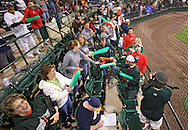 TinCaps fans are excited in the closing minutes of their win in game three of the Midwest League Championship at Community Field in Burlington, Iowa on September 17, 2009.