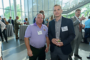 JD Rothberg and Chance Ragains at the 10-year anniversary celebration of Republic Bank's Private Banking and Business Banking divisions Wednesday, May 17, 2017, at the Speed Art Museum in Louisville, Ky. (Photo by Brian Bohannon)