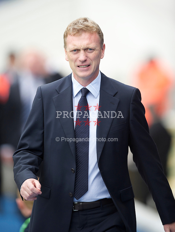 BIRMINGHAM, ENGLAND - Saturday, October 2, 2010: Everton manager David Moyes before the Premiership match against Birmingham City at St Andrews. (Photo by David Rawcliffe/Propaganda)