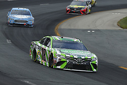 July 22, 2018 - Loudon, New Hampshire, United States of America - Kyle Busch (18) brings his car through the turns during the Foxwoods Resort Casino 301 at New Hampshire Motor Speedway in Loudon, New Hampshire. (Credit Image: © Chris Owens Asp Inc/ASP via ZUMA Wire)