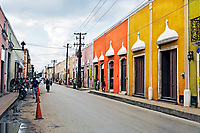 view of a street of valladolid in yucatan mexico