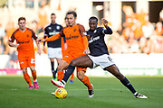 Dundee midfielder Glen Kamara (#8) challenges Dundee United forward Scott McDonald (#8) for the ball during the Betfred Scottish Cup match between Dundee and Dundee United at Dens Park, Dundee, Scotland on 9 August 2017. Photo by Craig Doyle.