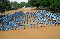 ©INDIA 2005. Morning assembly on a schoolyard in Ennamputhanthorai, on the southern tip of India. Most of the students in this school lost someone close in the tsunami disaster of 2004. .Picture featured in book KIDS photos by Markus Marcetic, published 2007.