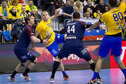 Ziga Mlakar of RK Celje Pivovarna Lasko during handball match between RK Celje Pivovarna Lasko (SLO) and Paris Saint-Germain Handball (FRA) in VELUX EHF Champions League, on February 11, 2018 in Dvorana Zlatorog, Celje, Slovenia. Photo by Urban Urbanc / Sportida