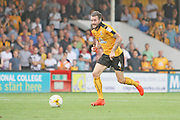 Cambridge Utd midfielder James Dunne (4) surges forward during the EFL Sky Bet League 2 match between Cambridge United and Luton Town at the R Costings Abbey Stadium, Cambridge, England on 27 August 2016. Photo by Nigel Cole.