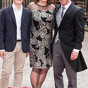 NLD/Den Haag/20190917 - Prinsjesdag 2019, Raymond Knops van Binnenlandse Zaken met vrouw en zoon