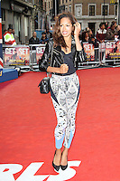 LONDON - JUNE 07: Jade Ewen attends the World Film Premiere of 'Fast Girls' at the Odeon West End, Leicester Square, London, UK. June 07, 2012. (Photo by Richard Goldschmidt)