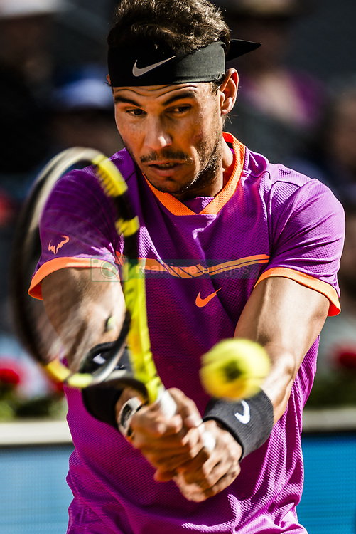 May 14, 2017 - Madrid, Madrid, Spain - RAFAEL NADAL (ESP) returns the ball to Dominic Thiem (AUT) in the final of the 'Mutua Madrid Open' 2017. Nadal won 7:6, 6:4 (Credit Image: © Matthias Oesterle via ZUMA Wire)