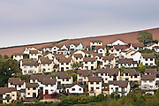 Housing in coastal town of Teignmouth, Devon, UK