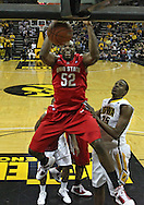 January 04 2010: Ohio State Buckeyes forward Dallas Lauderdale (52) dunks the ball during the first half of an NCAA college basketball game at Carver-Hawkeye Arena in Iowa City, Iowa on January 04, 2010. Ohio State defeated Iowa 73-68.