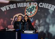 KELOWNA, CANADA - SEPTEMBER 22:  Promotion Girls at the Kelowna Rockets Game on September 22, 2017 at Prospera Place in Kelowna, British Columbia, Canada.  (Photo By Cindy Rogers/Nyasa Photography,  *** Local Caption ***