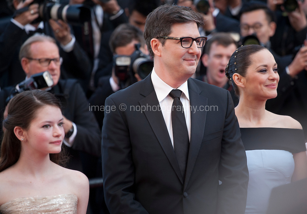Actress Mackenzie Foy, Director Mark Osborne and actress Marion Cotillard, at the gala screening for the film The Little Prince – Le Petit Prince at the 68th Cannes Film Festival, Friday 22nd May 2015, Cannes, France.
