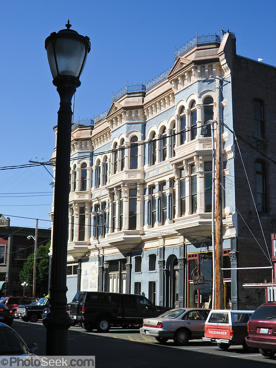 Many Victorian style buildings are preserved in Port Townsend, Washington, USA. The Port Townsend Historic District is recognized as a U.S. National Historic Landmark District (NHLD).
