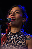 Ana Tijoux  from Latin America performs at Womadelaide 2017 Music Festival held between 10 - 13 March 2017 in Adelaide, South Australia