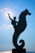 ?Caballero del Mar? (?The Seahorse?) by Rafael Zamarripa, 1976, The Malecon, Puerto Vallarta, Jalisco, Mexico
