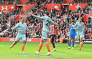 Goal - Alvaro Morata (29) of Chelsea celebrates scoring a goal to give a 0-3 lead to the away team during the Premier League match between Southampton and Chelsea at the St Mary's Stadium, Southampton, England on 7 October 2018.