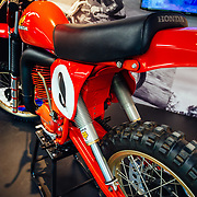 Fox airshocks on the first series winning motocross motocycle.