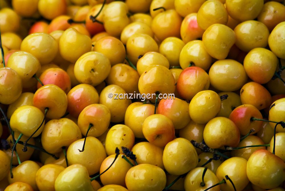 """Farm-fresh produce fresh fruits, Pink & Yellow Cherries (Sweet Cherries) """"Cherry Varieties Bing to Rainier"""""""