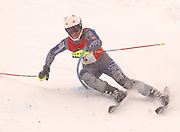 Harbor Springs skier Drake Doherty heads to the finish of his first of two slalom runs during the 2010 Division II MHSAA State Ski Finals.