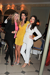 Left to right, TINA HOBLEY, YASMIN MILLS and LAUREN KEMP at a VIP dinner hosted by Maserati following the unveiling of the new Maserati 'Quattroporte' at The Hurlingham Club, London on 17th April 2013.