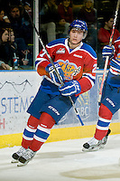KELOWNA, CANADA, FEBRUARY 15: Curtis Lazar #27 of the Edmonton OIl Kings skates on the ice at the Kelowna Rockets on February 15, 2012 at Prospera Place in Kelowna, British Columbia, Canada (Photo by Marissa Baecker/Shoot the Breeze) *** Local Caption ***