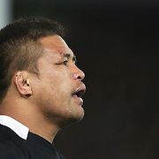 Keven Mealamu, New Zealand,  during the New Zealand V France Final at the IRB Rugby World Cup tournament, Eden Park, Auckland, New Zealand. 23rd October 2011. Photo Tim Clayton...