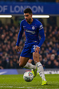 Chelsea defender Emerson Palmieri (33) on the ball during the EFL Cup semi final second leg match between Chelsea and Tottenham Hotspur at Stamford Bridge, London, England on 24 January 2019.