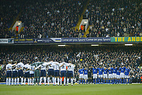 1/1/2005 - FA Barclays Premiership - Tottenham Hotspur v Everton - White Hart Lane<br />The Tottenham Hotspur and Everton teams stands, with the crowd, for a minute's silence in rembrance for all the victims of the Asian Tsunami disaster.<br />Photo:Jed Leicester/Back Page Images